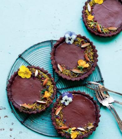 Tartelettes au chocolat sans gluten et sans lactose : la recette healthy de Stéphanie Guillemette